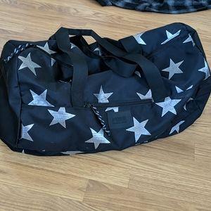 Pink Victoria's Secret duffle bag Stars NWOT